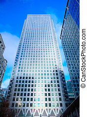 Buusiness concept financial district modern skyscrapers