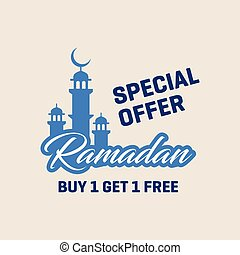 Buy 1 Get 1 Free Ramadan Special Offer Poster template