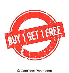 Buy 1 Get 1 Free rubber stamp