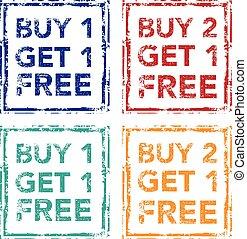 Buy 1 Get 1 Free Stamp
