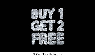 Buy 1 Get 2 Free Blinking Text Wishes Particles Greetings, Invitation, Celebration Background