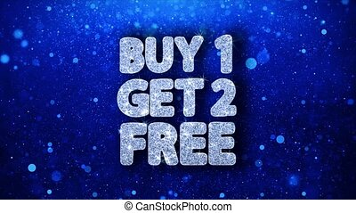Buy 1 Get 2 Free Blue Text Wishes Particles Greetings, Invitation, Celebration Background