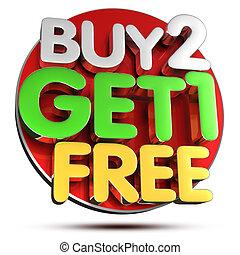Buy 2 Get 1 Free 3D.
