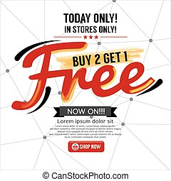 Buy 2 Get 1 Free Background Vector