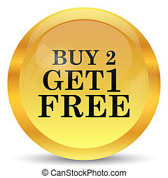 Buy 2 get 1 free offer icon