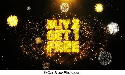 Buy 2 Get 1 Free Wishes Greetings card, Invitation, Celebration Firework Looped