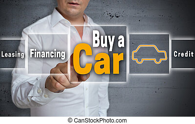 Buy a car concept is shown by man