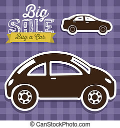 Buy a car - Illustration of Big Sale label, Buy a car,...
