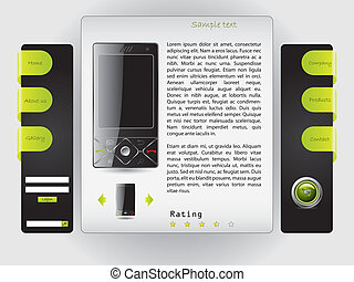 Buy a cell phone website template