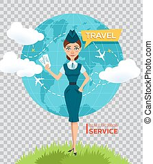 Buy air tickets online. Advertising poster, banner