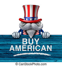 Buy American Business Concept