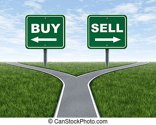 Buy and sell decision dilemma crossroads of financial...