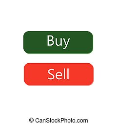 Buy and Sell icon button design vector