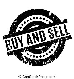 Buy And Sell rubber stamp. Grunge design with dust...