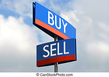 Buy and sell street sign