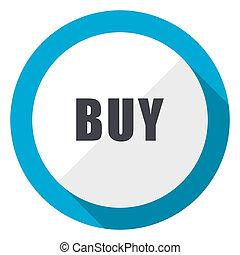 Buy blue flat design web icon