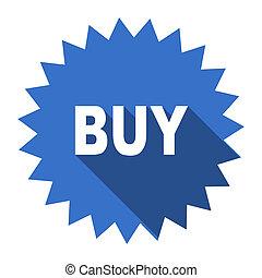 buy blue flat icon