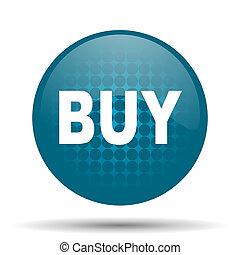 buy blue glossy web icon
