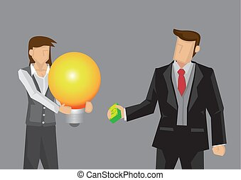Buy Business Idea Cartoon Vector Illustration - Cartoon ...