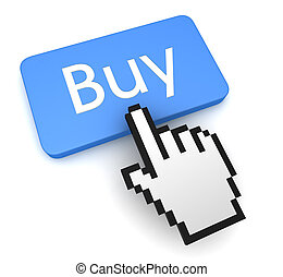 buy button concept 3d illustration