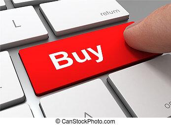 buy button concept 3d illustration