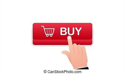 Buy button icon. Shopping Cart icon. stock illustration