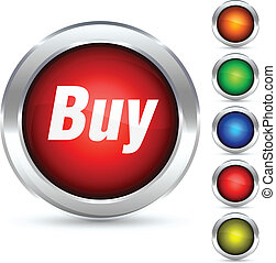 Buy button. - Buy detailed button. Vector illustration.