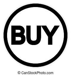 Buy button on white.