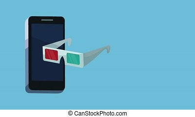 Buy cinema ticket from smartphone High definition animation colorful scenes