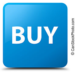 Buy cyan blue square button