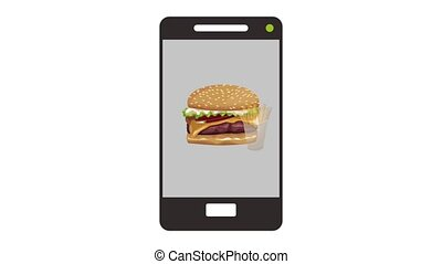 Buy fast food online HD animation