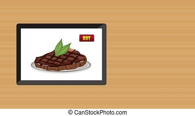 Buy fast food online HD animation - Fast food order from...