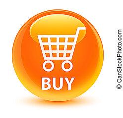 Buy glassy orange round button