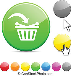 Buy glossy button. - Buy glossy vibrant round icon.
