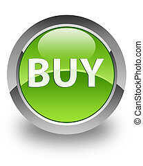 BUY glossy icon - BUY icon on glossy green round button