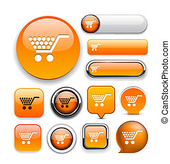 Buy high-detailed web button collection.