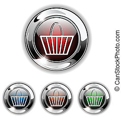 Buy icon, button, vector illustrati