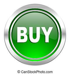 buy icon, green button