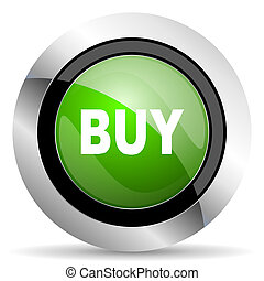 buy icon, green button