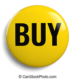 Buy Icon - Isolated Yellow Symbol