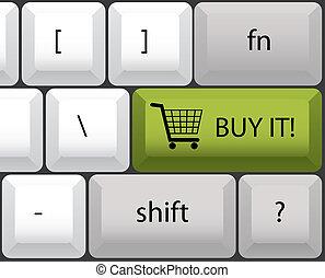 buy it keyboard illustration