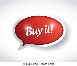 buy it message bubble illustration design