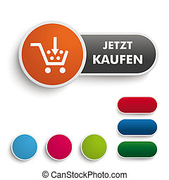 Buy It Now Button Black Orange