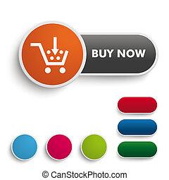 Buy It Now Button Engl Black Orange