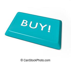 Buy Key - Isolated on White