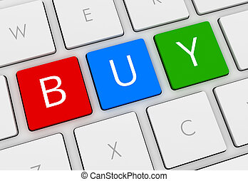 buy keyboard 3d illustration