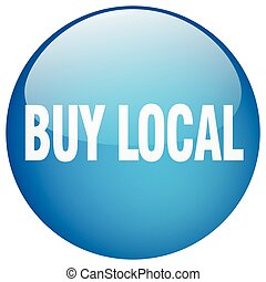 buy local blue round gel isolated push button