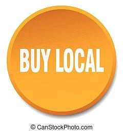 buy local orange round flat isolated push button