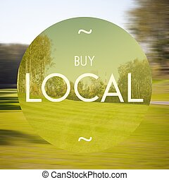 Buy local poster illustration of business