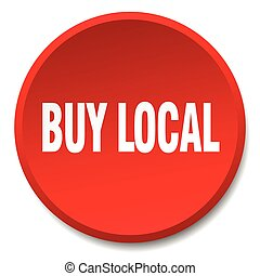buy local red round flat isolated push button